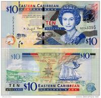 EAST CARIBBEAN STATES       10 Dollars       P-52[b]        ND (2015)      UNC - Caraibi Orientale