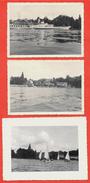 """PHOTO Photographie (LOT De 3) Sur Le LAC LEMAN 74 Haute-Savoie France & Suisse * Bateau """"Montreux"""" - Lugares"""