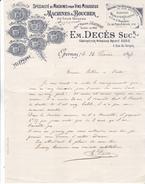 51 Epernay - 1897- Lettre Illustrée Em DECES  4 Rue Du Donjon. Belles Illustrations.Tb état. - 1800 – 1899