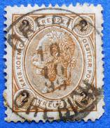 AUSTRIA 2 Kr.1890 Mic.51 Perf.13 :13 1/2 KAISER FRANZ JOSEPH - USED - 1850-1918 Imperium