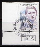 France 2017.Germaine Ribière.Cachet Rond Gomme D'Origine. - France