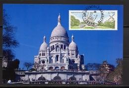 France 2017.Montmartre Cachat Rond Sur Support Papier Photo 10x15. - France