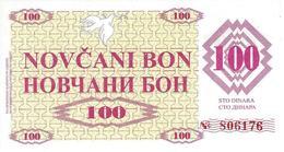 BOSNIA & HERZEGOVINA 100 DINARA 1992 P-6r UNC  [BA006r] - Bosnia And Herzegovina