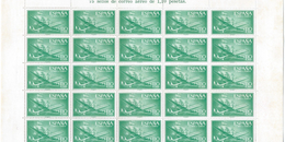 ES1173-A973TAE.Spain Espagne.AVION.BARCO SUPER-CONSTELLATION Y NAO SANTA MARIA 1955/56.(Ed.1173**)BL 20 - Nuevos & Fijasellos