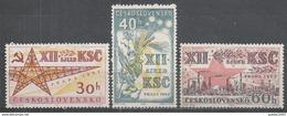 Czechoslovakia 1962. Scott #1141-3 (MNH) Communist Party Of Czechoslovakia * - Tchécoslovaquie