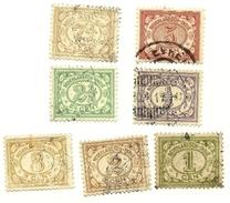 1912 - India Olandese 97/102 + 104/05 Cifra C4493, - Indes Néerlandaises