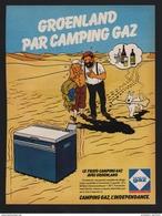 Pub Papier 1979 Camping GAZ D'apres Hergé Tintin Milou Capitaine Haddock Chien Réfrigérateur Portable - Publicités