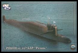 "RUSSIA 2015 POSTCARD 3665 Used Fdc MARINESKO SUBMARINE 667 ""RYAZAN"" NUCLEAR ATOM SOUS MARIN U BOOT ARCTIC NORD Mailed - U-Boote"