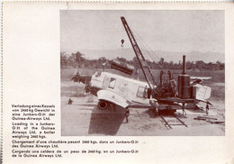 AVION / AIRCRAFT : JUNKERS G 31 De / Of GUINEA AIRWAYS LTD. - CHARGEMENT / LOADING - ANNÉE / YEAR ~ 1929 - 1930 (v-683) - 1919-1938