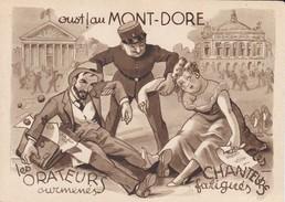 63---LE MONT-DORE--humour Oust ! Au MONT-DORE--illustr.  AIGLE --voir 2 Scans - Le Mont Dore