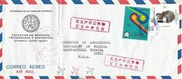 El Salvador 1976 Trade Fair Maya Pottery Prehistory Express Cover - El Salvador