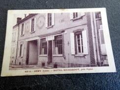 CPA - Héry (89) - Hôtel A. Richardot Près L'église - Menu Au Verso Du Baptême De Serge Schneider