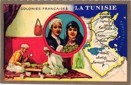 1 Trade Cards Chromo CHESS ECHEC SCHACH  Pub Lion Noir  Colonies Françaises La Tunesie - Echecs