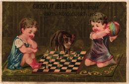 1 Trade Cards Chromo CHESS ECHEC SCHACH  Pub Chocolat  IBLED Mondicourt - Echecs