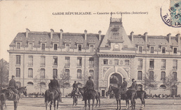 75. PARIS. CPA TRES RARE. GARDE REPUBLICAINE. ANIMATION A L'INTERIEUR DE LA CASERNE DES CELESTINS. ANNÉE 1906 - Arrondissement: 04