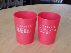 Cigarettes BELGA - ( 2 Bekers Plastic ) - Objets Publicitaires