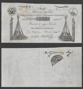 1849 II Repubblica Romana 5 Franchi Firma MAZZINI RARA - [ 4] Provisional Issues