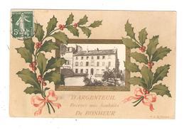 CPA Fantaisie  95 ARGENTEUIL D'Argenteuil Recevez Mes Souhaits De Bonheur Branche De Houx Rubans & Photo Bâtiment - Argenteuil