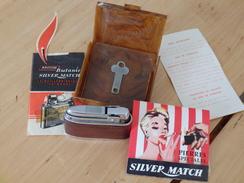 Silver Match 5 - Leder - British Butanic - Briquets