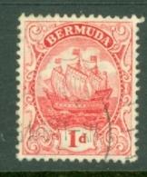 Bermuda: 1910/25   Ship    SG46a    1d   Rose-red      Used - Bermuda