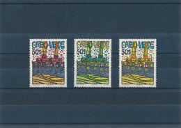 Cabo Verde Kapo Verde Hundertwasser - Satz Mi-Nrn. 497 - 499 Postfrisch ** - Art