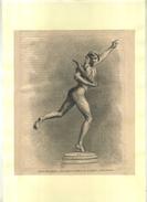 FRANCE . SCULPTURE DE FALGUIERE . GRAVURE SUR BOIS XIXeS. DECOUPEE ET COLLEE SUR PAPIER . - Sculptures