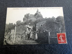 CPA Animée - Environs De Billon (63) - Ruines Du Château De Coppel - Autres Communes