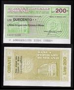 ITALIA 1977 - Mini Assegno - BANCA POPOLARE Di MILANO - Unione Artigiani - 200 Lire - SPL / FDC - [10] Assegni E Miniassegni