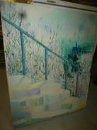 Tableau (peinture) Signé G. Bouvier  (dimension 81 Cm X 65 Cm) - Altre Collezioni