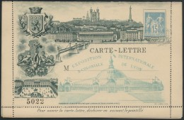 Carte-lettre Exposition Internationale & Coloniale De Lyon 1894, Neuve - TB - 1876-1898 Sage (Type II)