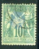 FRANCE ( POSTE ) : Y&T N° 65  TIMBRE  TRES  BIEN  OBLITERE , CLAIR  DE  CHARNIERE  , A VOIR . - 1876-1878 Sage (Type I)