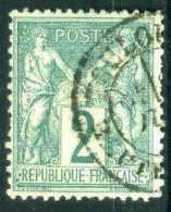 FRANCE ( POSTE ) : Y&T N° 74  TIMBRE  TRES  BIEN  OBLITERE  , A VOIR . - 1876-1898 Sage (Type II)