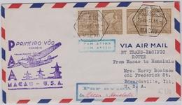 Macau / Macao First Flight 1937 Macau -  USA Honolulu - Macao