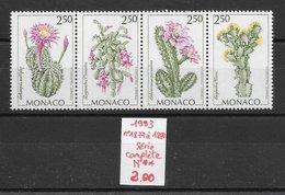 Fleur Cactus - Monaco N°1877 à 1880 1993 ** - Cactus