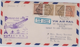 Macau / Macao First Flight 1937 Macau - San Francisco - Macao