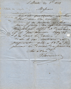 1863 LETTRE COMM. De  ST MARTIN EN RE  MR THOUILLAUD Pour BOUCHET & DENIAU COURTIERS MARITIMES à Marans V.SCANS - France
