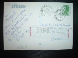 CP TP LIBERTE DE GANDON 1,70 OBL.13 8 1984 ST SAUD-LACOUSSIERE (24 DORDOGNE) VIGNETTE REEXPEDITION POSTES FRANCE - 1982-90 Liberty Of Gandon