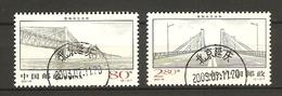China Volksrepublik (VR) 2001  Mi. 3275-3276  O/used    Einweihung Wuhu-Brücke