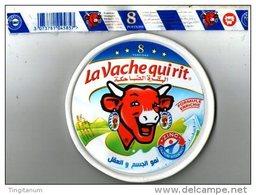 """Etiquette + Bande De Boite De Fromage 8 Portions"""" La Vache Qui Rit""""(760119661) - Fromage"""