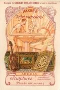 IMAGE (1) - Chocolat Poulain Orange Musée D'Art Industriel Le Bois Sculptures Wood .... Texte Au Dos - Vieux Papiers