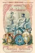 IMAGE (2) - Chocolat Poulain Orange Musée D'Art Industriel La Céramique Faïences Italiennes Ceramics .... Texte Au Dos - Vieux Papiers