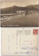 LUCRINO ( NAPOLI ) LA SPIAGGIA VISTA DALL'ALTO - EDIZ. CASTALDO - 1954 ( 63 ) - Napoli (Napels)