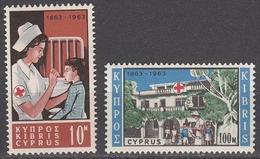 Cyprus 1963 Red Cross, Mint No Hinge, Sc# 227-228, Yv 215-216 - Cyprus (Republic)
