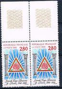 Frankreich 3109 Postfrisches Paar - Freimaurer, Großloge, Franc-maçonnerie, Freemasonry, Massoneria - France