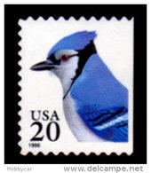USA, 1995, Scott #2483, Blue Jay, Booklet Single, 20c, MNH, VF - Unused Stamps