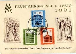 Vr 257  Carte Foire De Printemps De Leipzig 1962