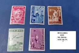 BULGARIA - 1939, Junak Congress  Mi. 360/64 Serie Cpl. 5v. Nuovi* - 1909-45 Regno