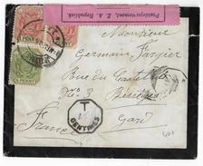 TRANSVAAL (SOUTH AFRICA) - 1900 - GUERRE Des BOËRS - ENVELOPPE De JOHANNESBURG Avec CENSURE + TAXE => BESSEGES (GARD) - Transvaal (1870-1909)