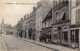 CPA CLERMONT - RUE DE LA REPUBLIQUE - Frankreich