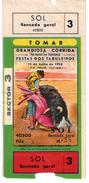 PORTUGAL TICKET BILLET CORRIDA TOMAR FESTA DOS TABULEIROS 1953 - TOROS BULL BULLFIGHT PLAZA DE TOROS - Biglietti D'ingresso